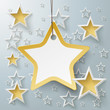 Golden Star Price Sticker With Stars PiAd