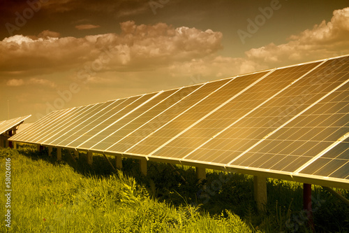 Power plant using renewable solar energy.
