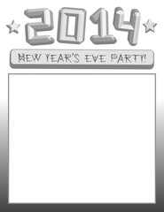 2014 New Year's Eve party poster / invitation. Vector eps 10