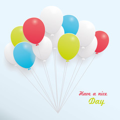 Creative template with colorful balloons