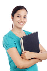 Young female student with books