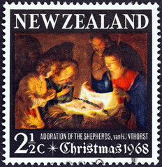Adoration of the shepherds (van Honthorst) (New Zealand 1968)