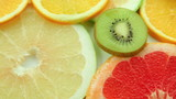 Fruit background, fruits: orange, kiwi, grapefruit, lemon, lime