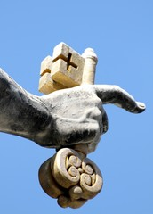 hand of san pietro in Vatican City