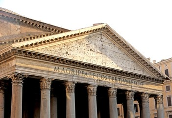 Roman temple called the PANTHEON in Rome
