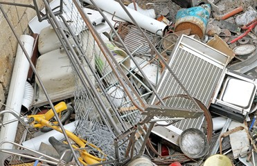 irons left in a landfill hazardous metals