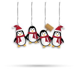 XMAS Anhänger *** Dekoration Pinguine
