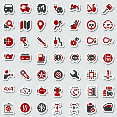 iconset automobile red & black sticker
