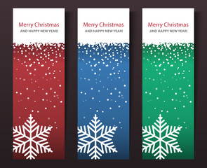 Set of vertical Christmas banners.