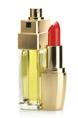 Lipstick and perfume