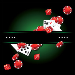 Cards Chips Casino Poker background