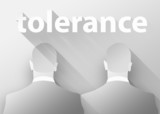 Gay tolerance 3d illustration flat design poster