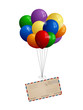 Airmail letter to a bunch of balloons