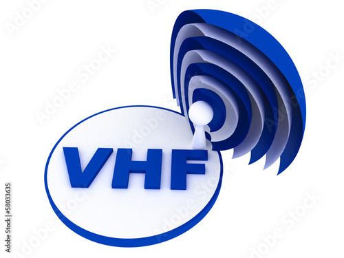 VHF (Very high frequency) range sign