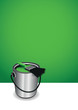 green paint pot background