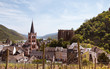 canvas print picture - Bacharach am Rhein