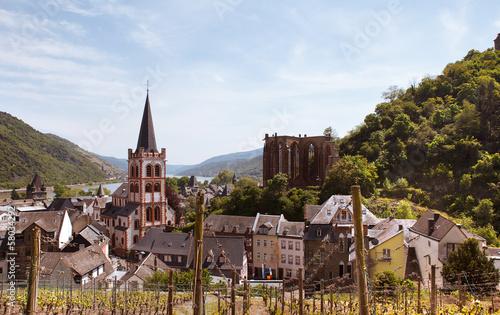 canvas print picture Bacharach am Rhein