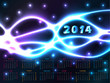 2014 calendar with plasma background