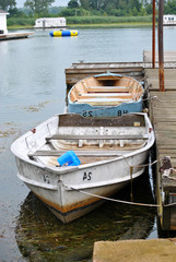 Docked Rowboats
