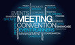 canvas print picture - Events meeting convention event planner word tag cloud