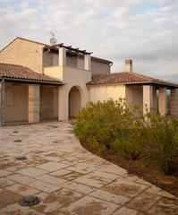 stone made villa
