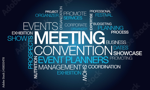 Plexiglas Uitvoering Events meeting convention event planner word tag cloud