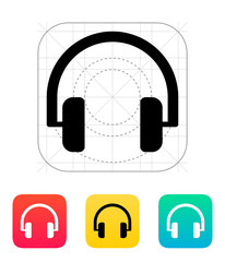 Audio headphones icon.