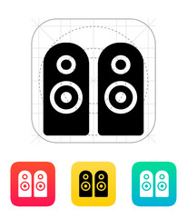Two audio speakers icon.