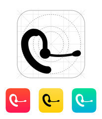 Phone headset icon.