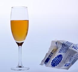verre de champagne,alcool au volant