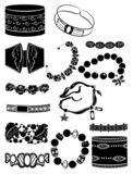Set of silhouettes of bracelets