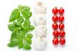 Lebensmittel bilden italienische Flagge