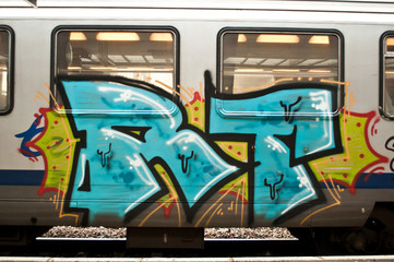 graffiti sur un train