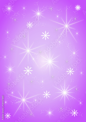 Background stars on purple