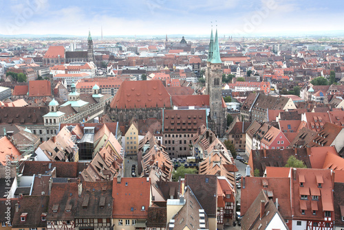 View over Nuremberg old town, Germany