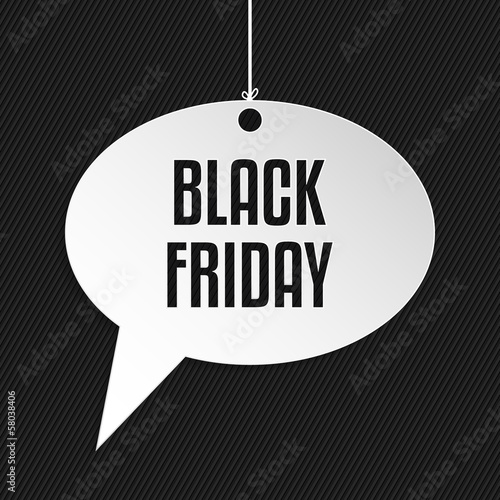 Black friday speech bubble hanging