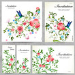 Set of floral cards for your design