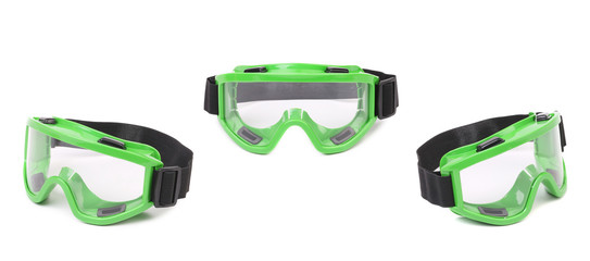 Set of green protective glasses