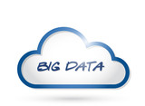 big data cloud illustration design