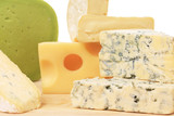 Various types of delicious cheeses