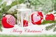 Weihnachten - Deko - Merry Christmas!