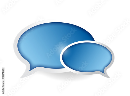 communication bubble illustration design