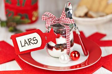 Weihnachtliche Trifle für Lars