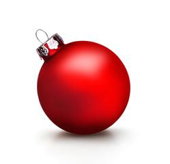 Rote Weihnachtskugel