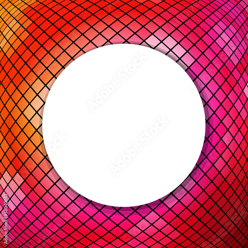 Mosaic Background With Sphere