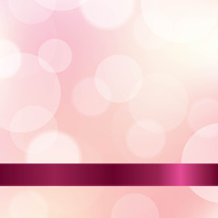 Pink Color Background With Ribbon