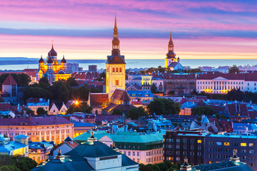 Evening scenery of Tallinn, Estonia