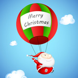 Santa Claus in Parachute poster