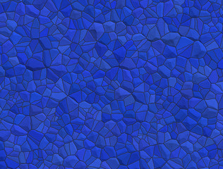Abstract background with tiles in blue