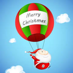 Santa Claus in Parachute